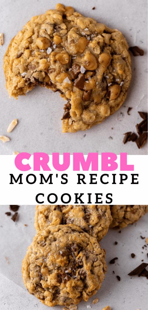 Crumbl Oatmeal toffee cookies