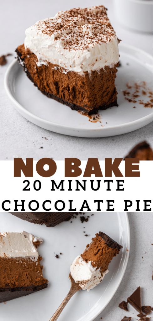 Quick and easy no bake chocolate dessert