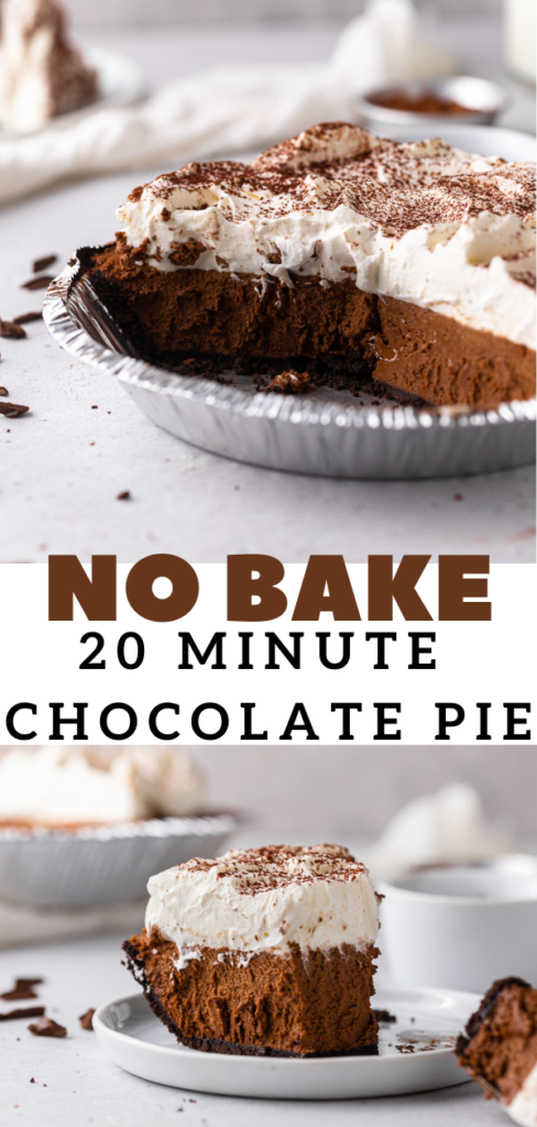 Chocolate pie with oreo crust