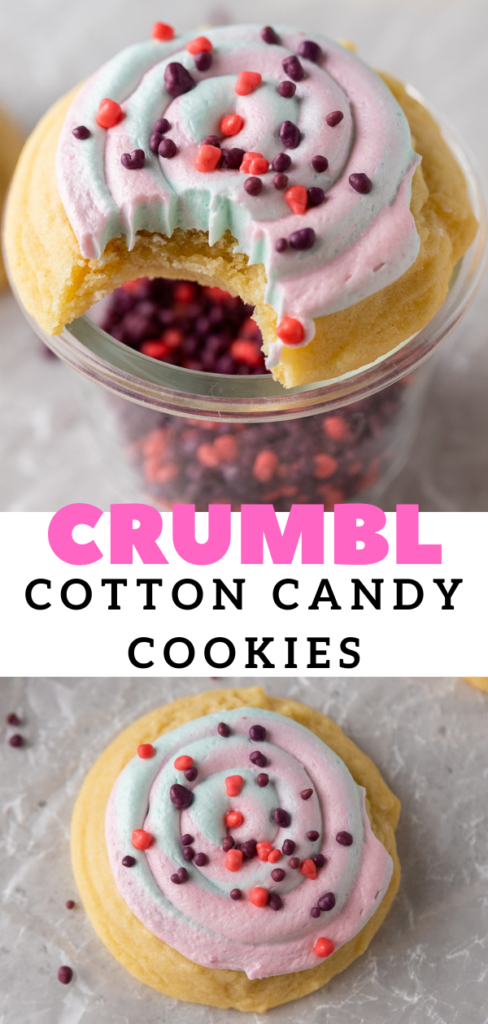 Crumbl cotton candy cookies
