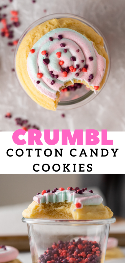 Pink and blue cotton candy cookies