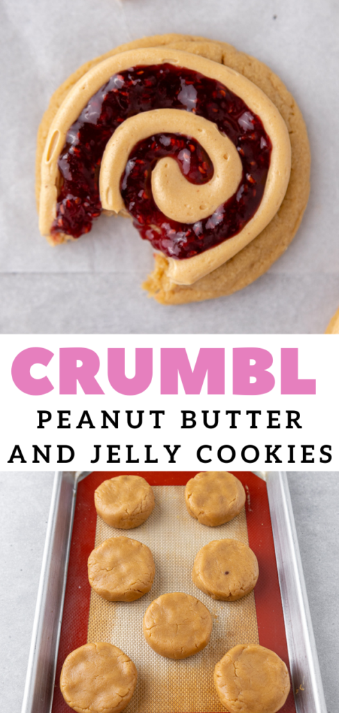 raspberry jam and peanut butter cookies