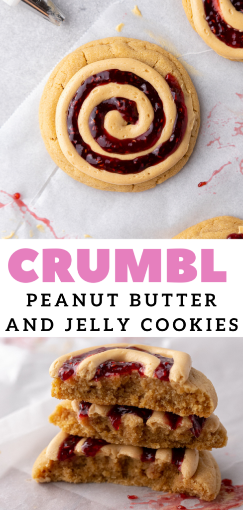 Thick peanut butter and jelly cookies