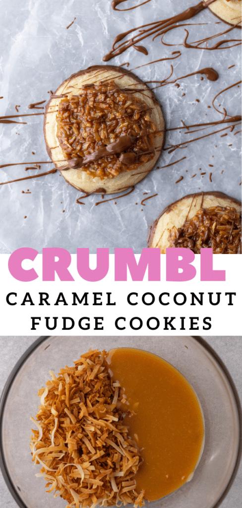 Easy caramel coconut sugar cookies