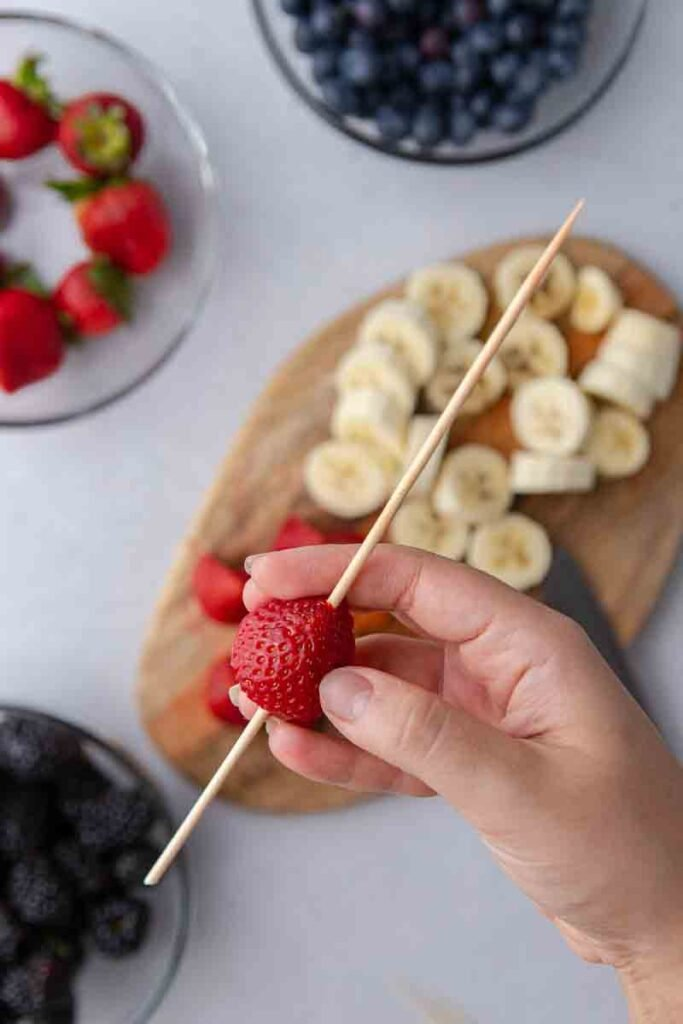 Strawberry on a skewer