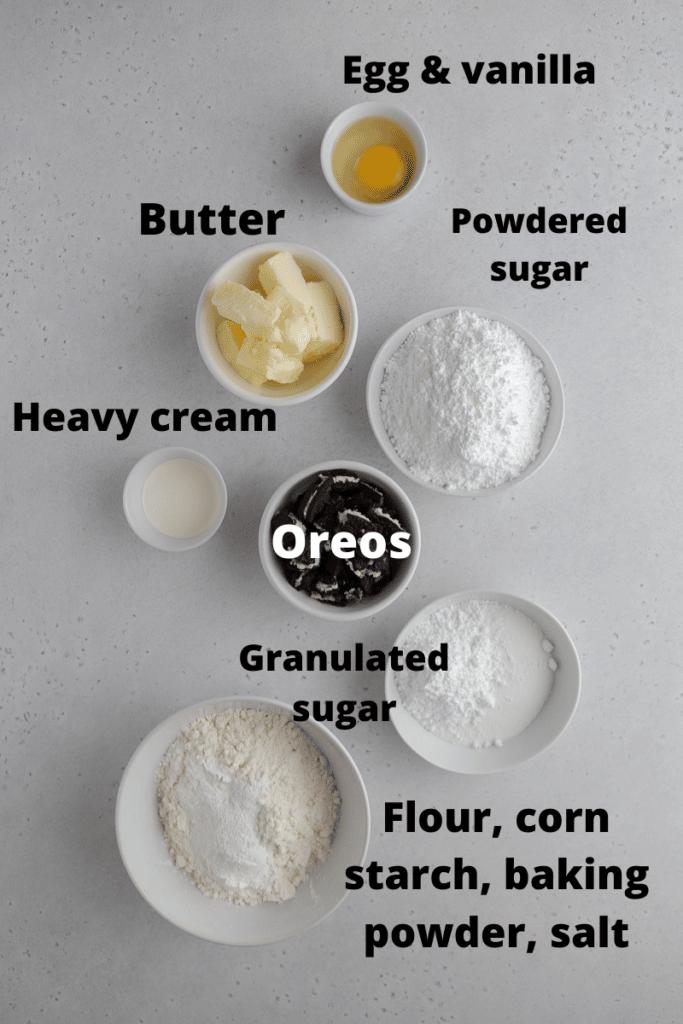 Crumbl cookies and cream milkshake cookie ingredients
