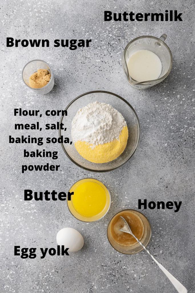 Small batch cornbread ingredients