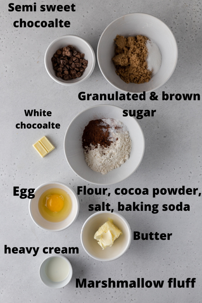 Crumbl chocolate mallow cupcake cookie ingredients