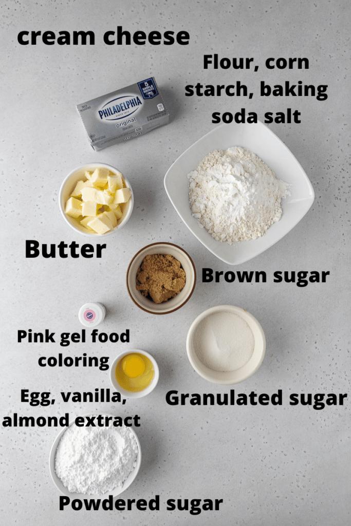 Pink velvet cookies ingredients