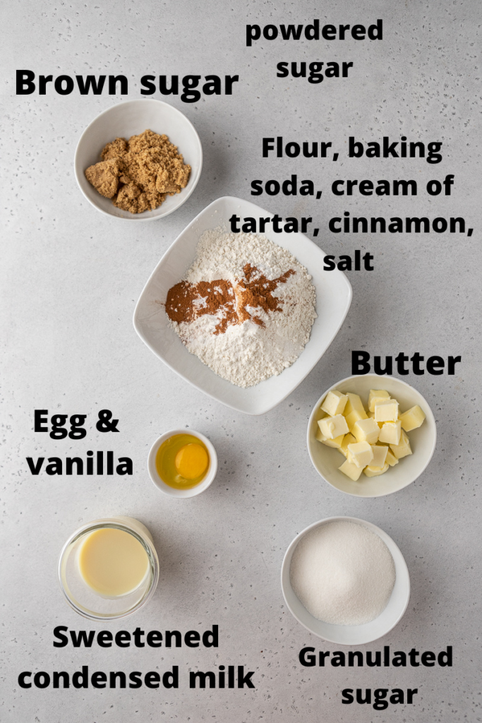 Ingredients for Crumbl cinnamon fry bread