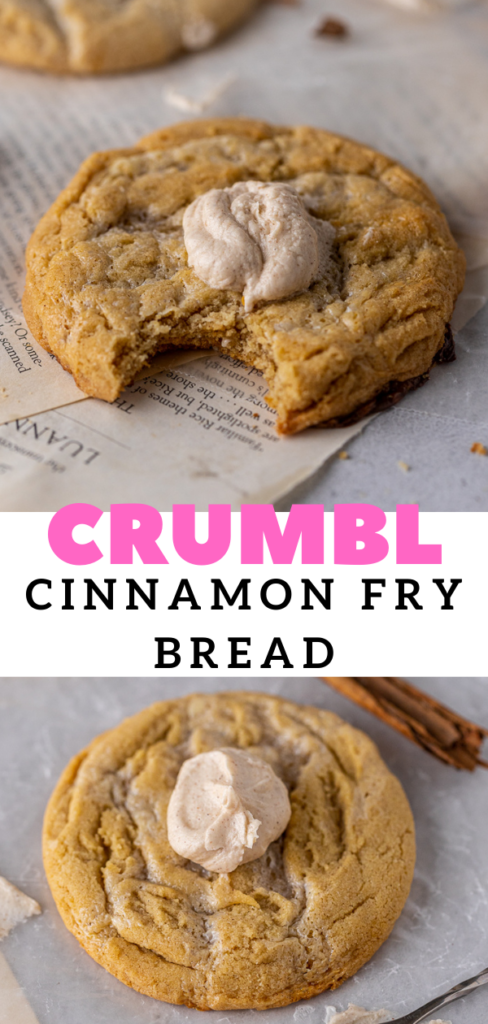 Frosted cinnamon cookie