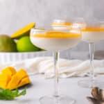 Creamy mango Panna Cotta