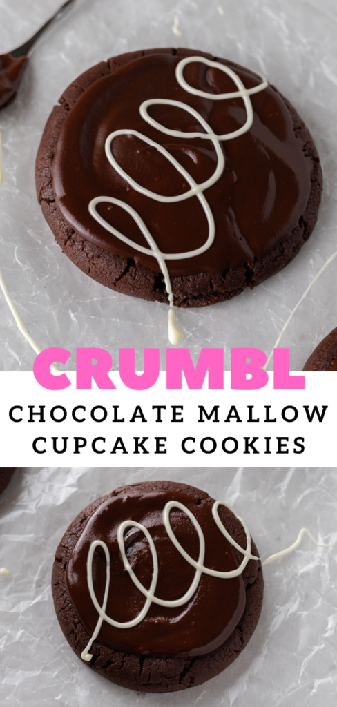 Crumbl chocolate mallow cupcake cookies