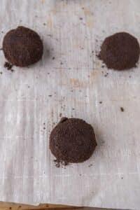 Oreo coated chocolate cookie dough balls