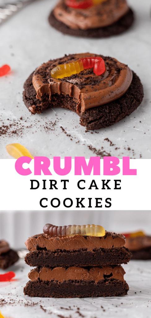 chocolate dirt cake cookies
