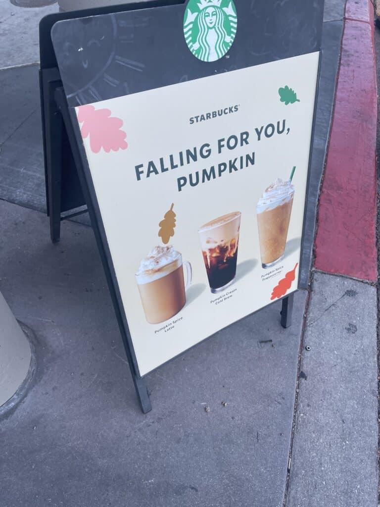 Starbucks 2021 fall flavors