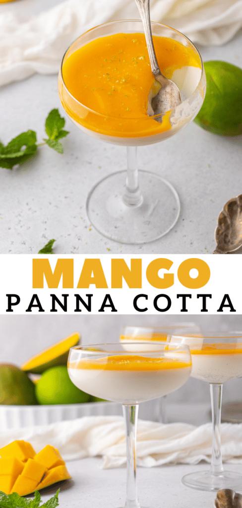 Easy mango panna cotta recipe
