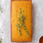 Small batch corn bread in loaf pan