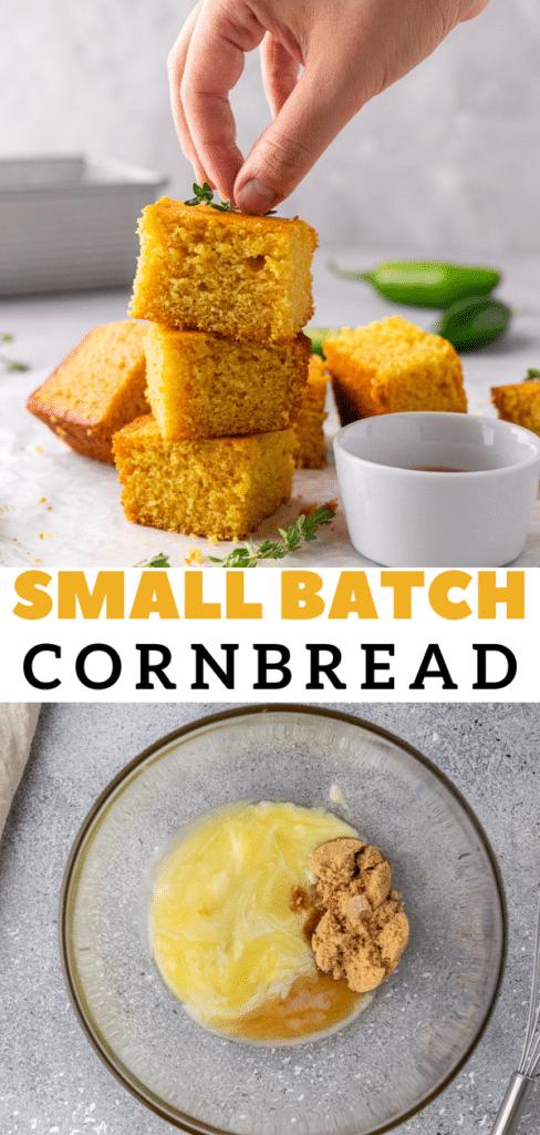 Moist corn bread in loaf pan