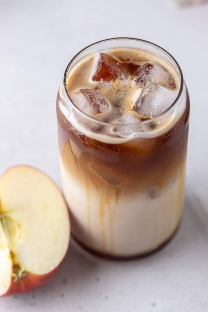 Iced apple macchiato