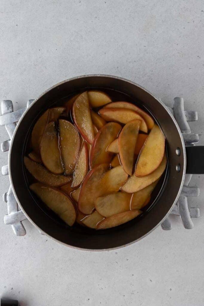Brown sugar apple simple syrup