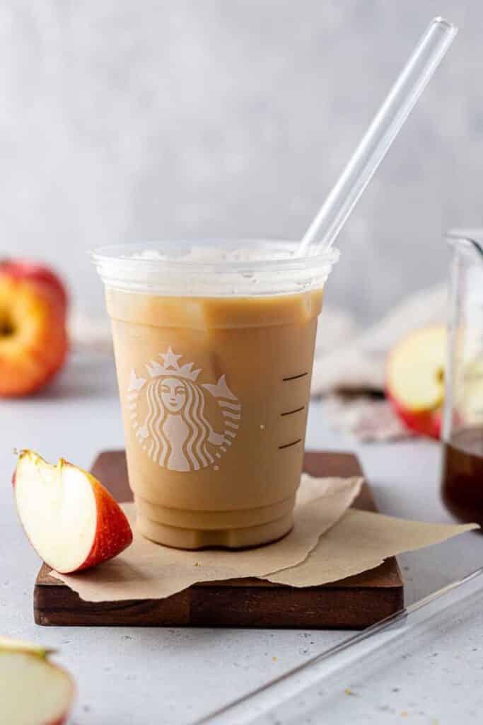 Apple crisp macchiato in Starbucks cup