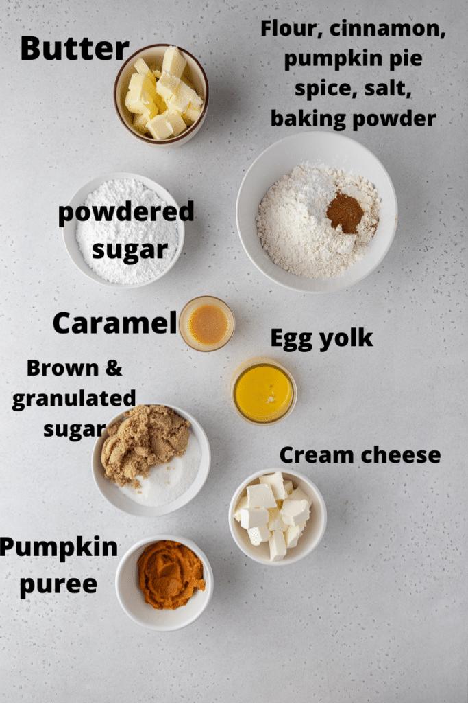 Crumbl caramel pumpkin cookie ingredients