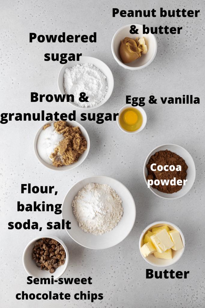 Crumbl Buckeye brownie cookies ingredients