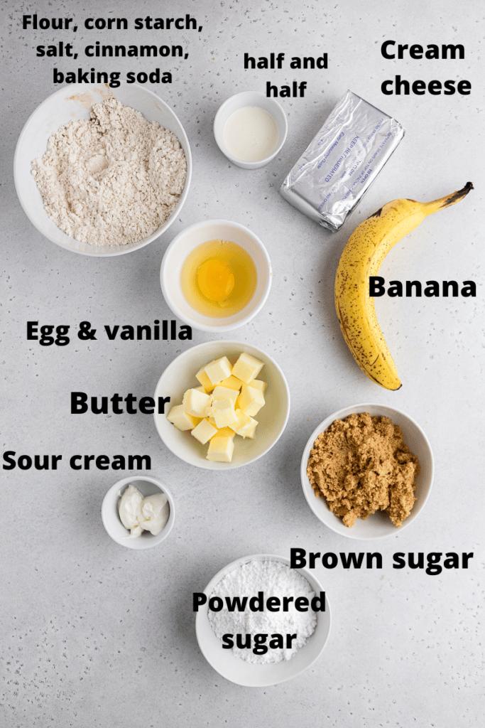 Crumbl banana bread cookie ingredients