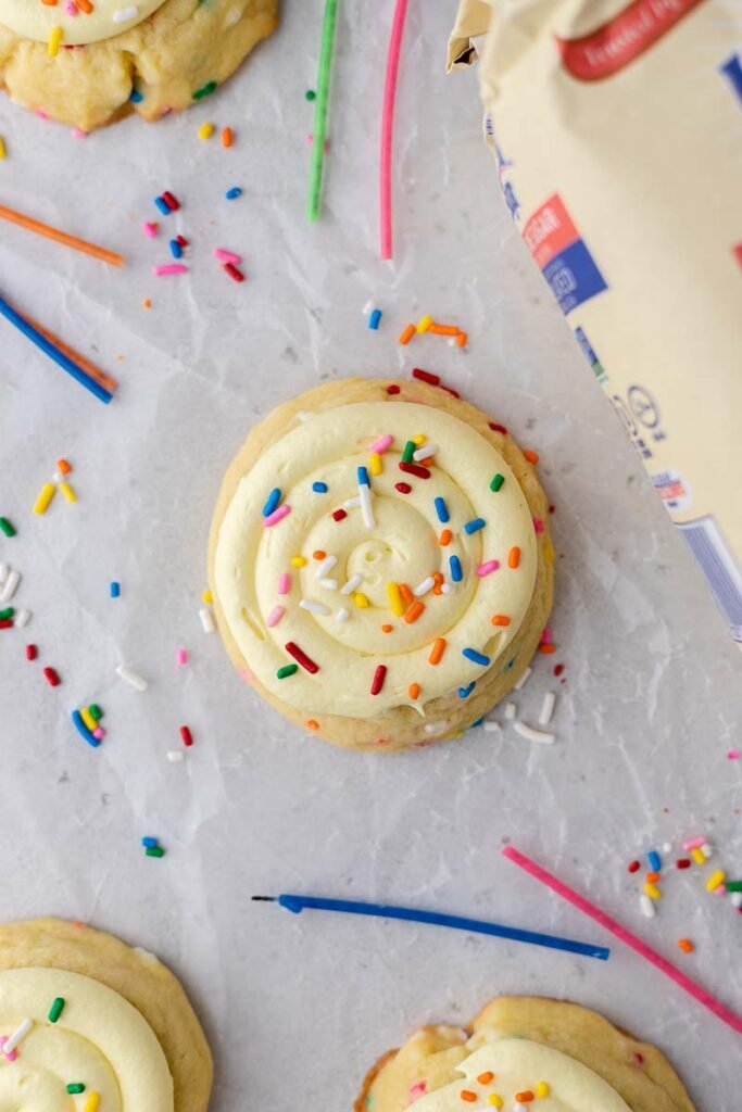Crumbl Birthday Cake Cookies