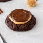 Crumbl Buckeye Brownie Cookies