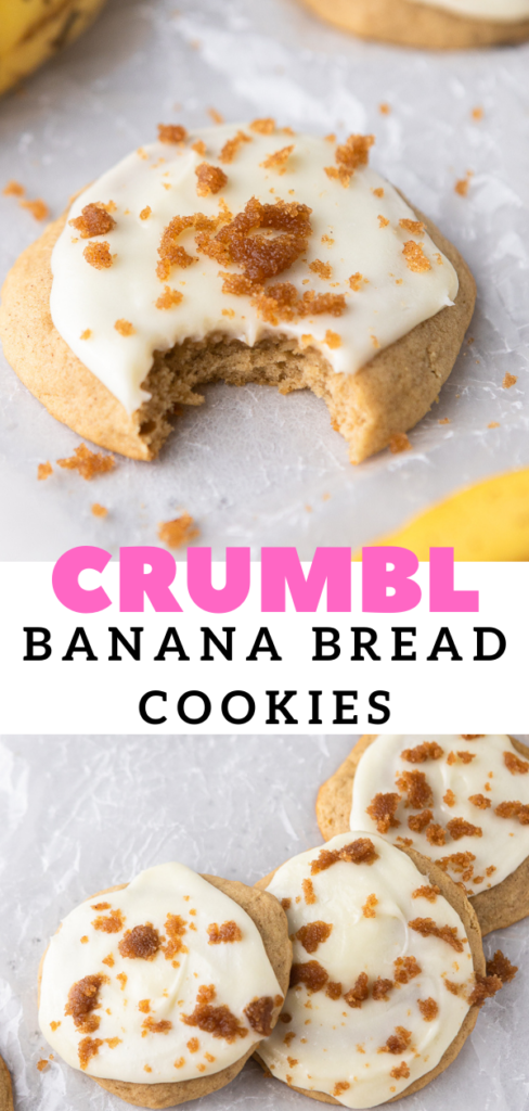 Crumbl banana bread cookies