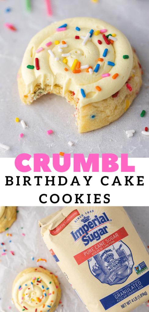 Crumbl birthdy cake cookies
