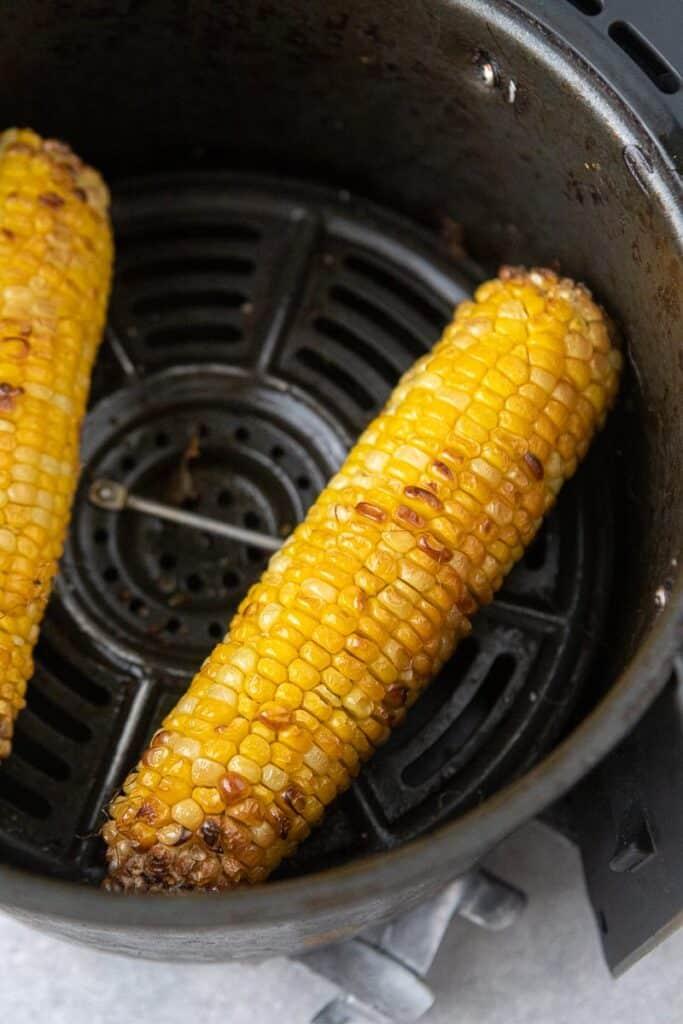 Air fried corn on the cob