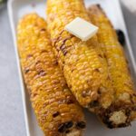 Grilled corn on the cob in the air fryer