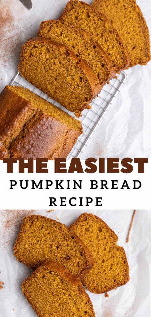 Quick pumpkin bread