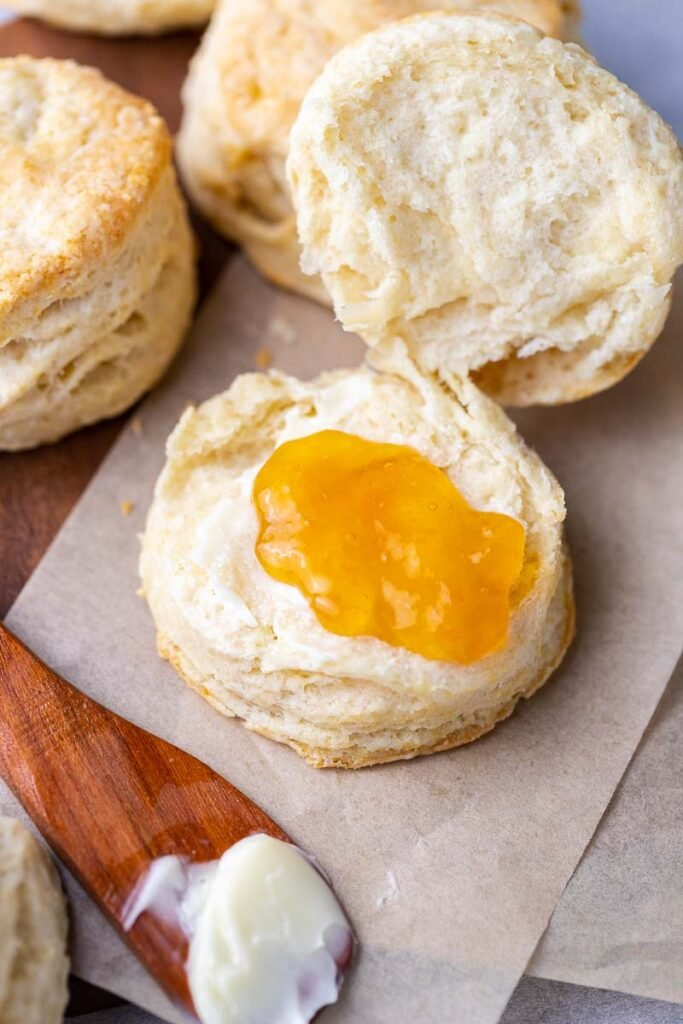 Biscuit with jam