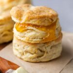 Flaky biscuit with jam