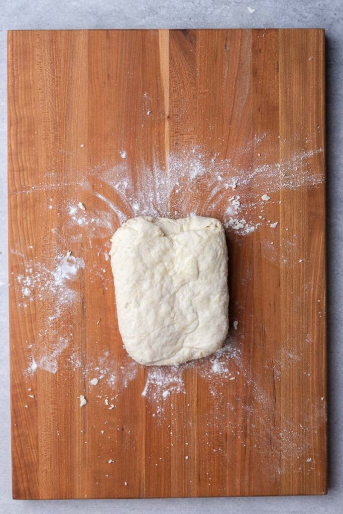 Folded biscuit dough