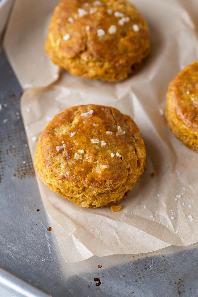 Pumpkin biscuits for one