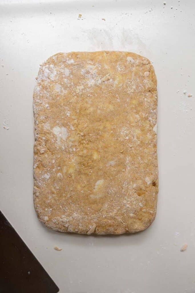 Pumpkin scone dough
