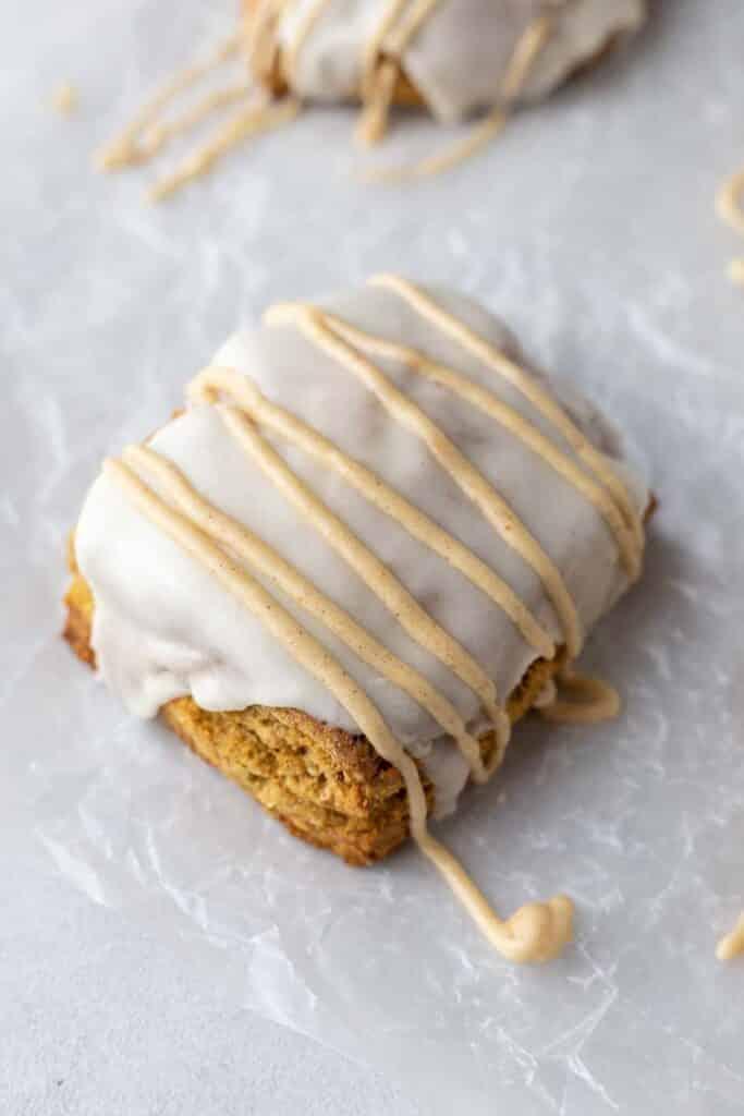 Square pumpkin scone