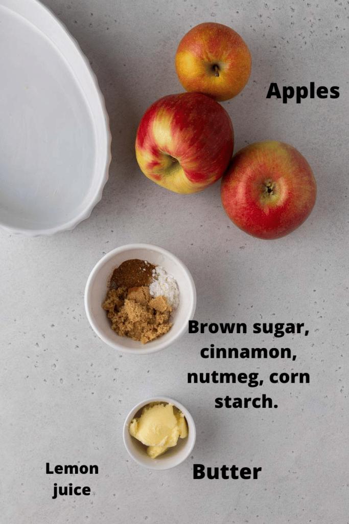 Baked apple ingredients