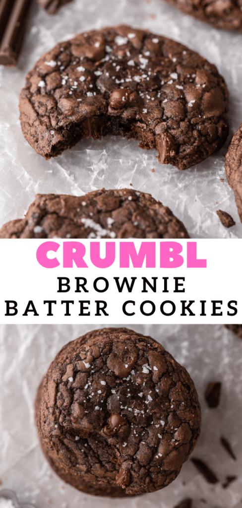 Crumbl brownie batter cookies