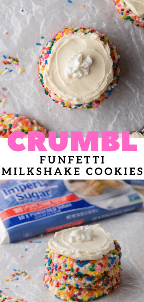 Crumbl funfetti milkshake cookies