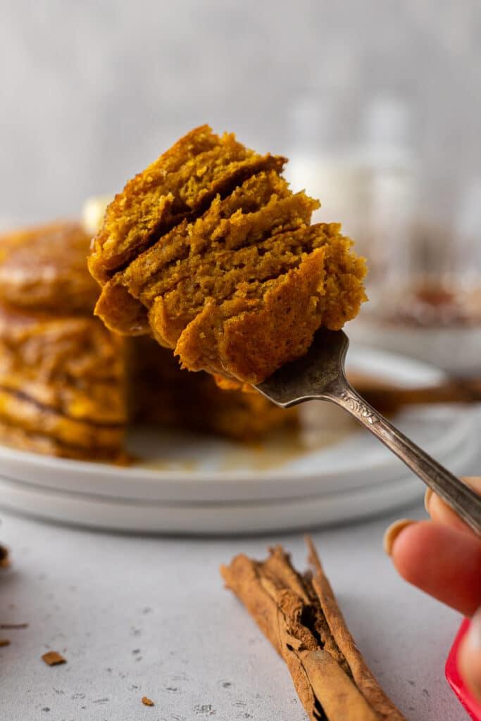 Pumpkin pancake bite