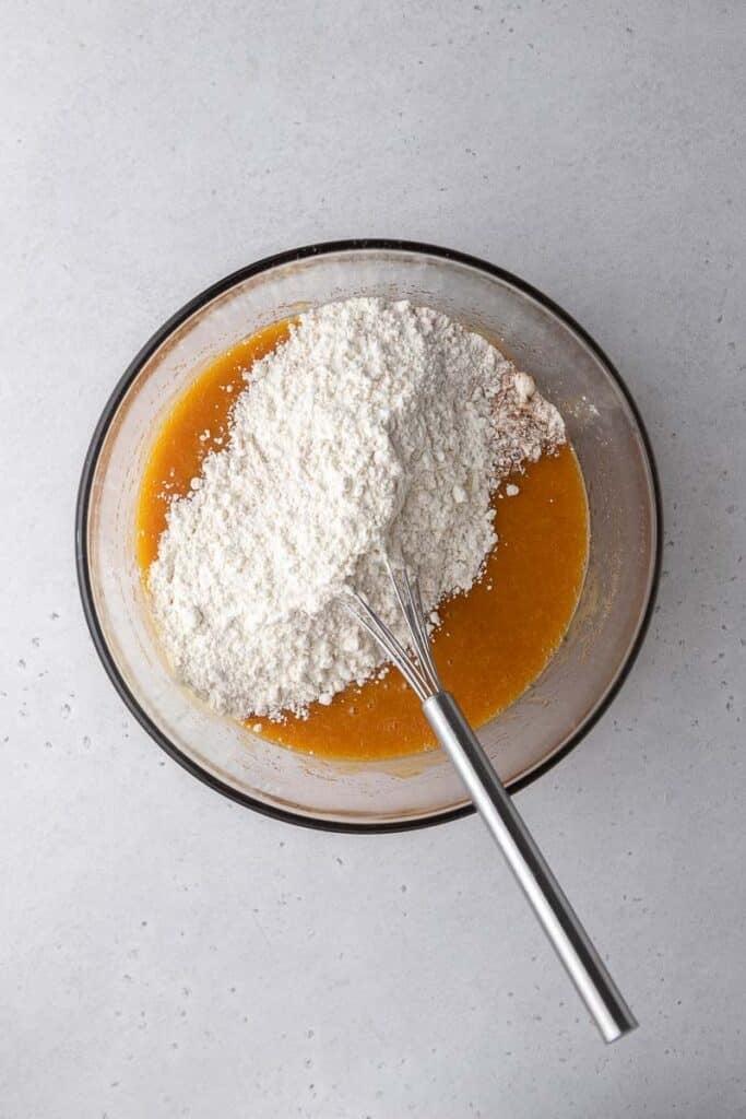 Pumpkin mix with flour